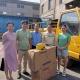 恩德公益理事单位武进区前黄金阳光工艺箱包厂捐赠头盔助力环卫工人出行安全